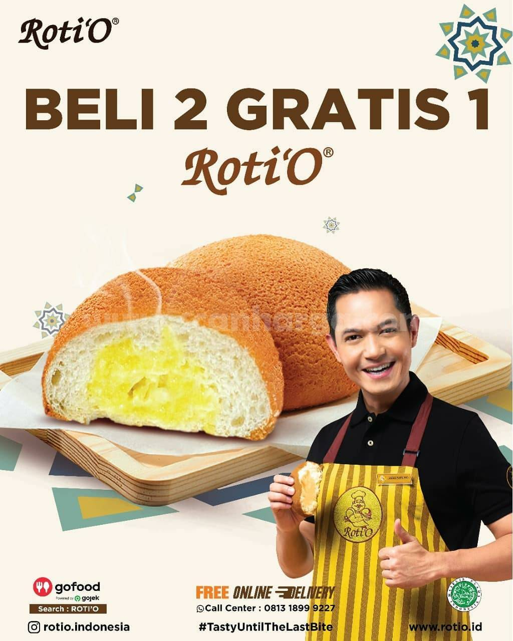 Promo ROTI'O Beli 2 Gratis 1 - Beli Pastry cuma Rp 12.000 & Kopi O cuma 25K