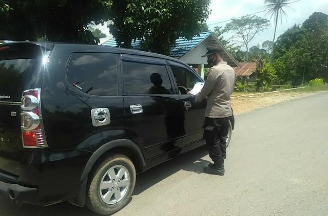 Polsek Awang Laksanakan Operasi Yustisi, Himbau Masyarakat Memakai Masker