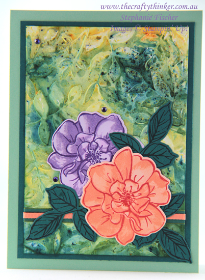 #thecraftythinker  #stampinup  #toawildrose #cardmaking , To A Wild Rose, Layered Leaves, Stampin' Up Australia Demonstrator, Stephanie Fischer, Sydney NSW