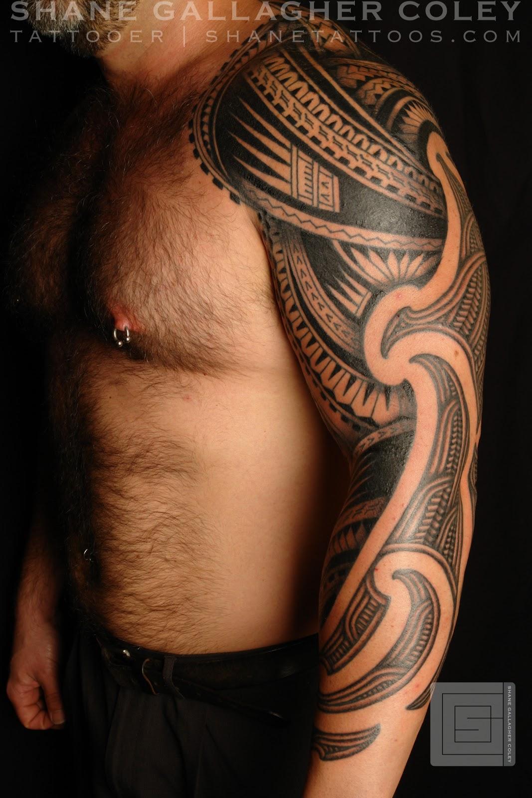 Maori Tattoo Sleeve: MAORI POLYNESIAN TATTOO: Half Maori Half Polynesian Sleeve