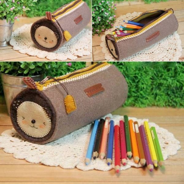 How to make zippers pencil case DIY tutorial in pictures.