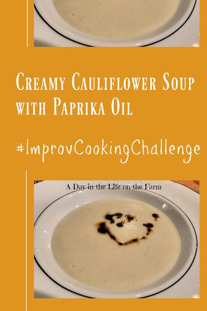 Creamy Cauliflower Soup with Paprika Oil pin