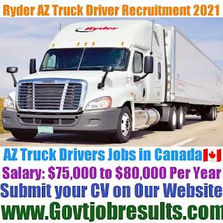 Ryder AZ Truck Driver Recruitment 2021-22
