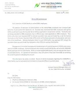 extension-cghs-to-bsnl-employees