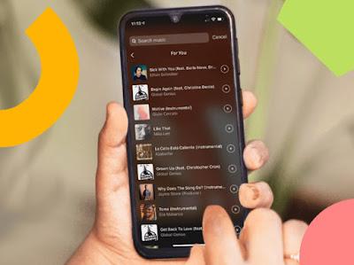 cara menambahkan musik pada instagram stories