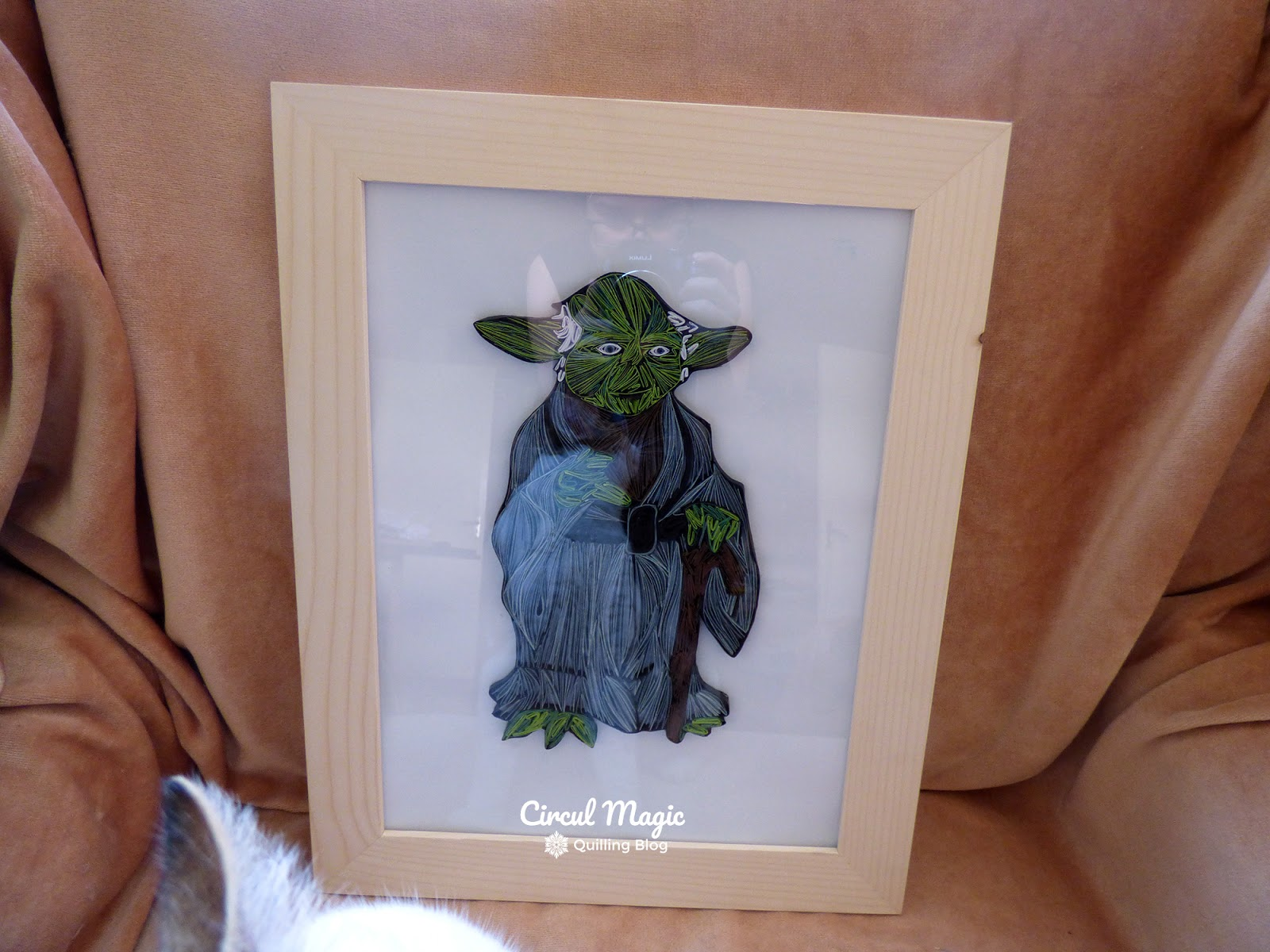 Tablou Handmade Quilling Yoda - Seria Personaje Star Wars - Circul Magic