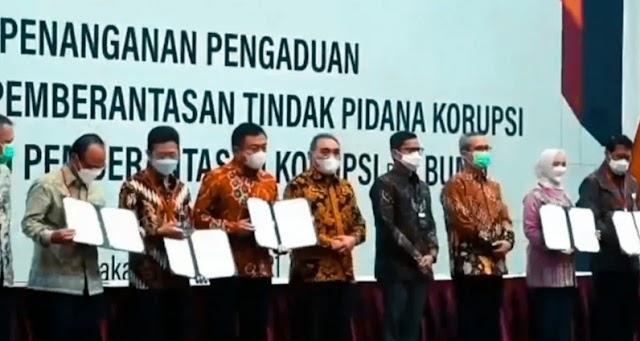 Sebanyak 27 perusahaan BUMN menandatangani kerja sama dengan KPK