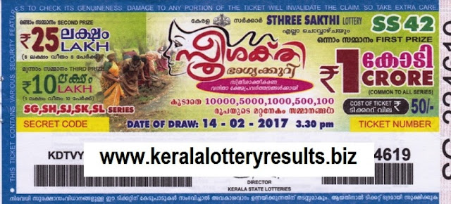 Kerala lottery result official copy of Sthree Sakthi (SS-55)