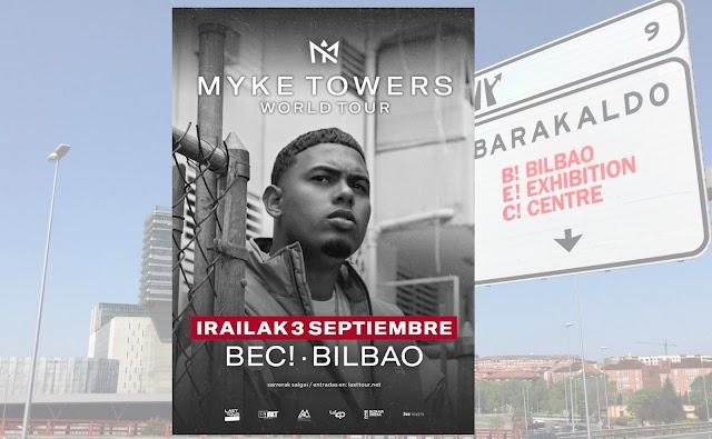 El cantante puertorriqueño Myke Towers actúa en BEC! el 3 de septiembre dentro de su gira europea