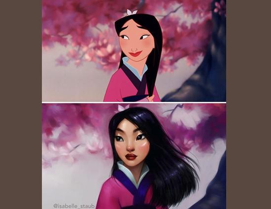 Personagens Desenhos Isabelle Staub - Mulan