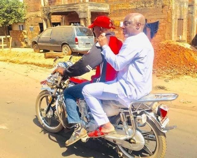 Nigerian Senator Spotted Attending A Wedding Ceremony On Okada