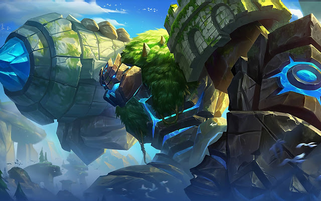 Grock Fortress Titan Heroes Tank of Skins Mobile Legends Wallpaper HD for PC