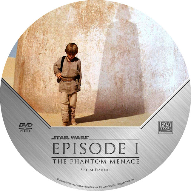 Star Wars: Episode I - The Phantom Menace DVD Label