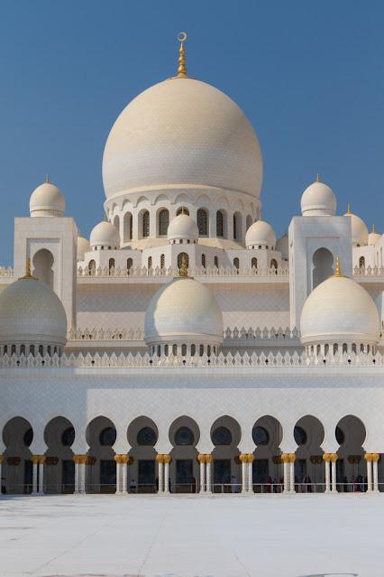 Cupole Moschea dello sceicco Zayed Abu Dhabi