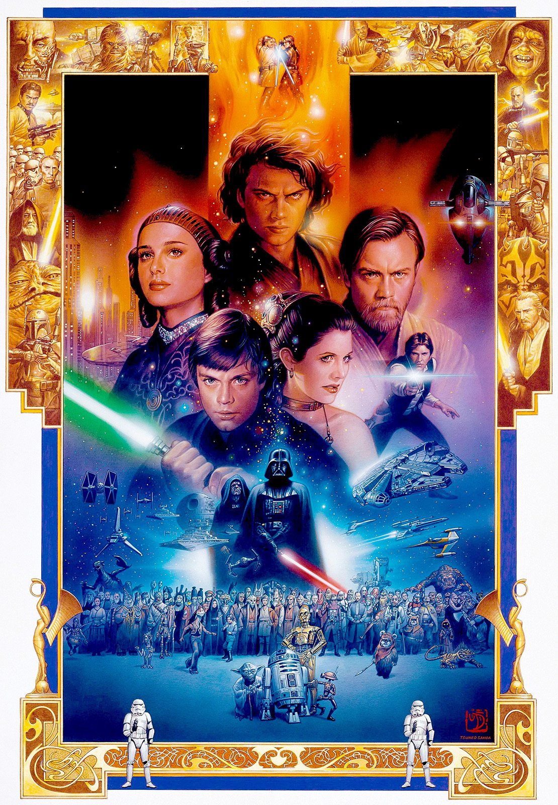 the geeky nerfherder artoftheday 'star wars saga'