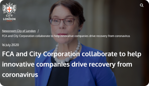 Annonce City of London Corporation + FCA