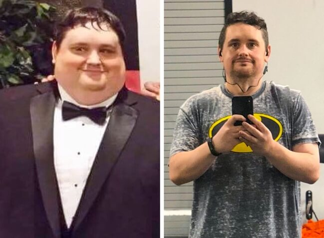 21 Before And After Photos Of People Who Managed To Lose Weight and Begin A Brand New Life - Thanks to his healthy diet and rigorous training this guy lost 141lb in only 16 months.