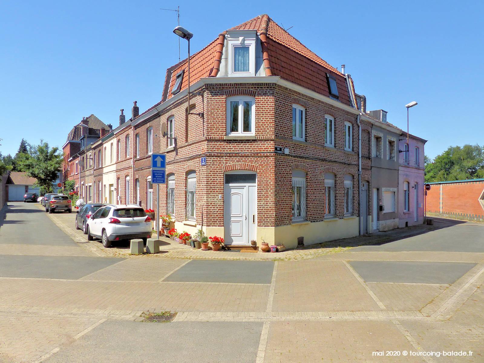 Angle Quai des Mariniers et Rue des Bleuets, Tourcoing 2020