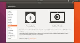 Schermata installazione Ubuntu