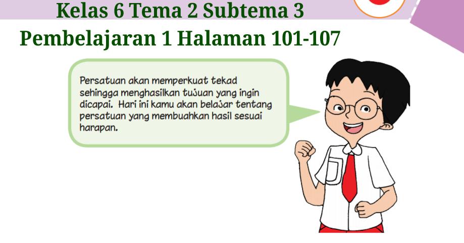 Kunci Jawaban Buku Tematik Tema 2 Kelas 6 Halaman 101, 102 ...