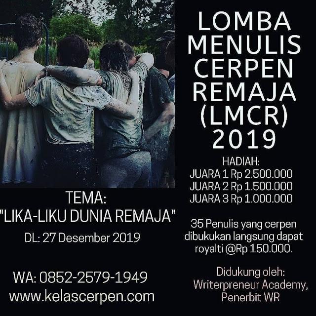 LOMBA MENULIS CERPEN REMAJA (LMCR) 2019