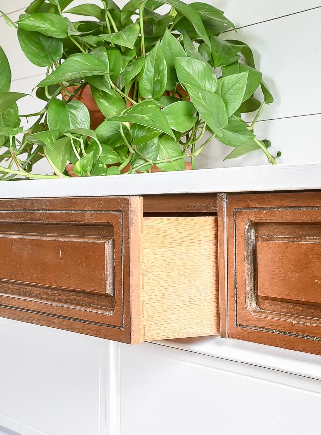dove tail drawers on Bassett dresser