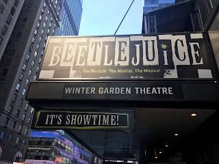 Beetlejuice Sign Winter Garden Theatre Broadway Musical