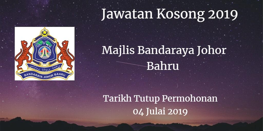 Jawatan Kosong MBJB 04 July 2019