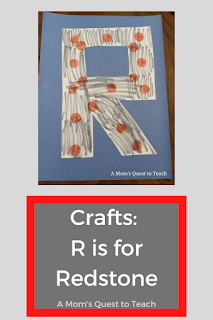 letter R craft (gray with red dots)