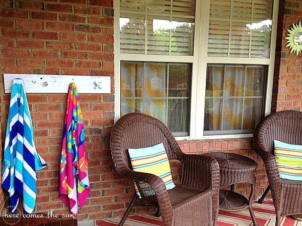 Diy Pottery Barn Inspired Towel Rack Here Comes The Sun