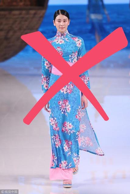NTK Việt lên tiếng phản đối mạnh mẽ khi Trung Quốc mạo nhận mẫu áo dài Việt