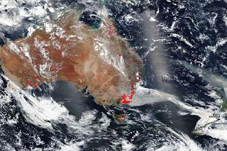 Fotos chocantes de satélite revelam a verdadeira extensão dos incêndios na Austrália