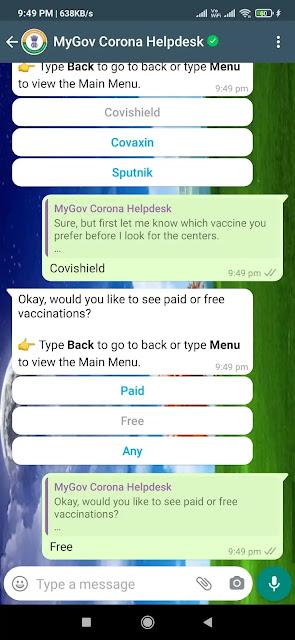Covid vaccine registration on whatsapp | व्हाट्सएप के जरिए कोविड-19 वैक्सीन का रजिस्ट्रेशन और  स्लॉट बुक कैसे करें