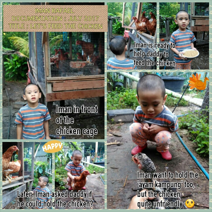 Let's feed the chicken by lil' Iman
