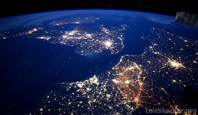 Uzaydan İngiltere ve Fransa