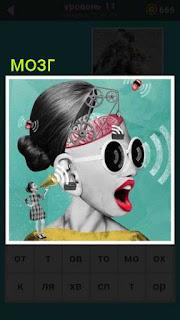 схематическое изображение мозга из которого разбегаются мысли