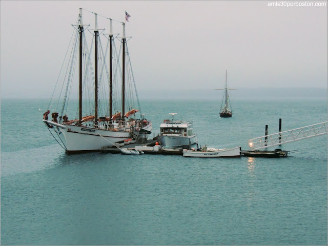 Barco en el Puerto de Bar Harbor, Maine