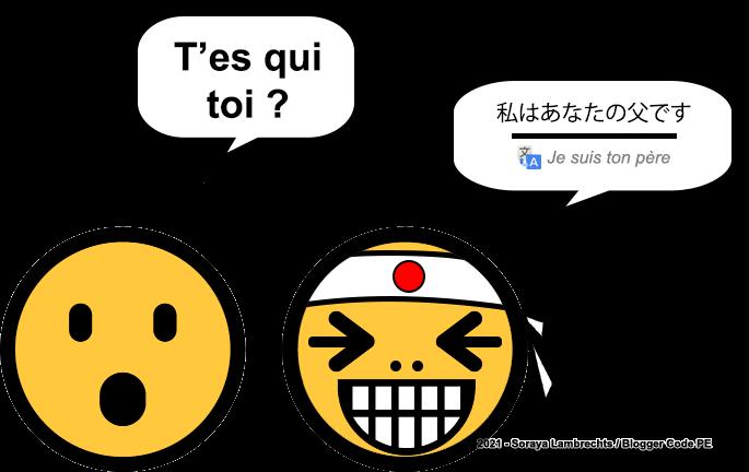 Blogger Humour - Le smiley japonais - Je suis ton père.
