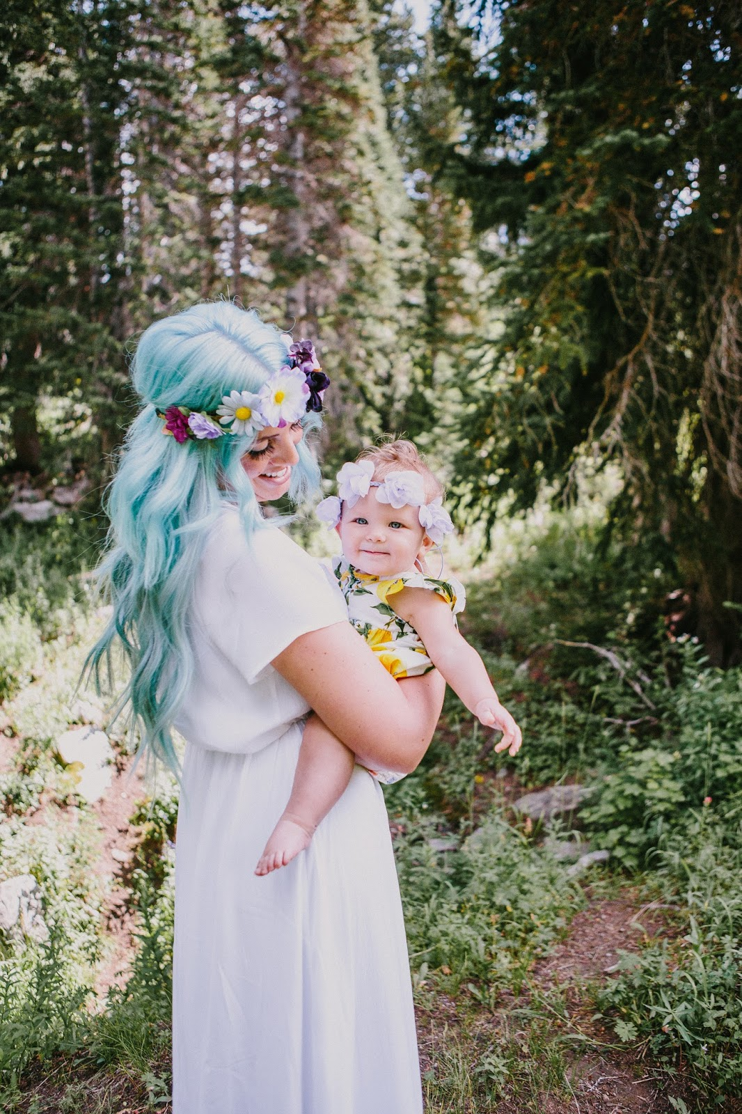 Mermaid Hair, Mommy and Me photoshoot, Headbands of Hope