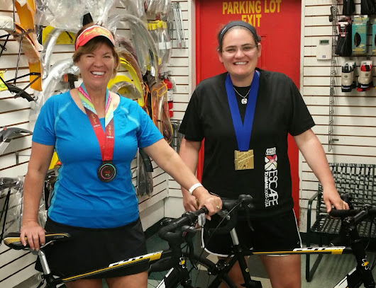 Mother and Daughter Compete on our Bikes in South Beach Triathlon