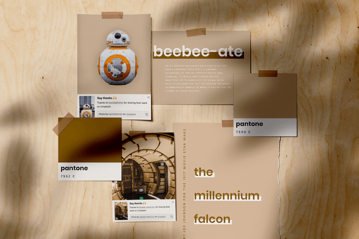 Star Wars the force awakens movie review moodboard