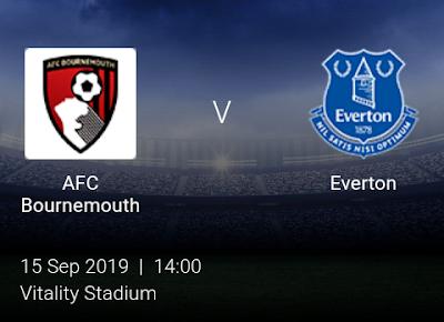 LIVE MATCH: AFC Bournemouth Vs Everton Premier League 15/09/2019