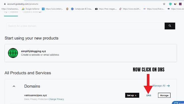 Add custom domain to blogger with godaddy