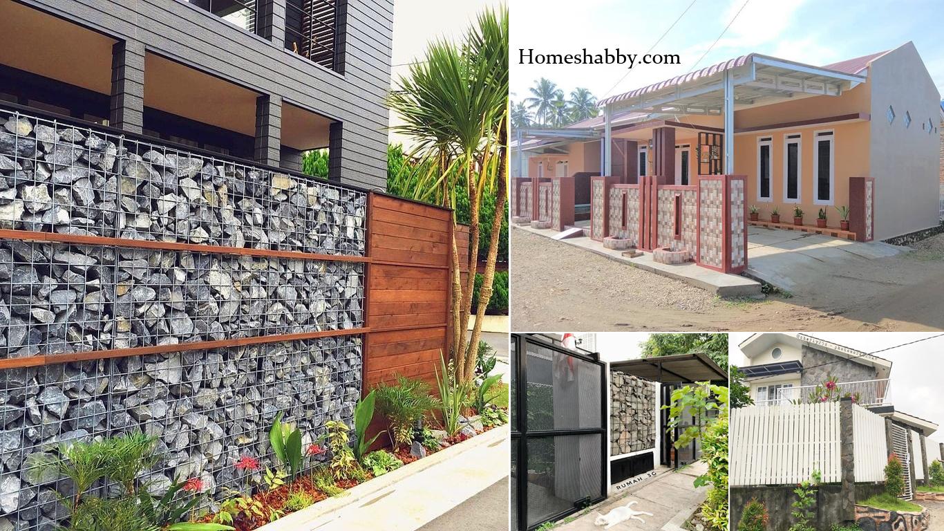 6 Desain Pagar Rumah Minimalis Model Batu Alam Yang Paling Di Minati Homeshabby Com Design Home Plans Home Decorating And Interior Design
