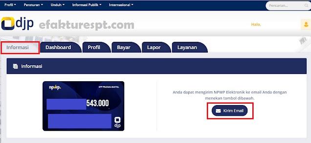 Cetak NPWP Elektronik Melalui DJP Online
