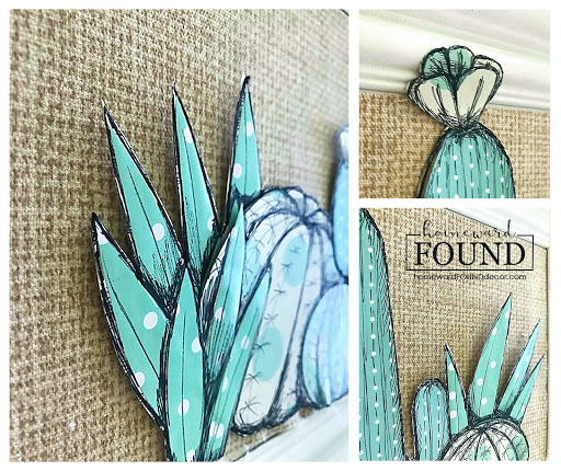 handmade, paper crafts, gift wrap crafts, dollar store crafts, repurposed, upcycled, paper arts, wall art, boho style, faux succulents, faux cacti, decorating with succulents, boho room makeover, fall home decor, diy home decor, diy, diy decorating
