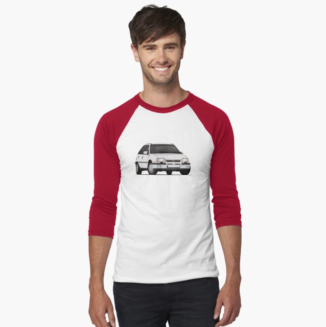 White Vauxhall Astra GTE 16V - hot hatch T-shirt