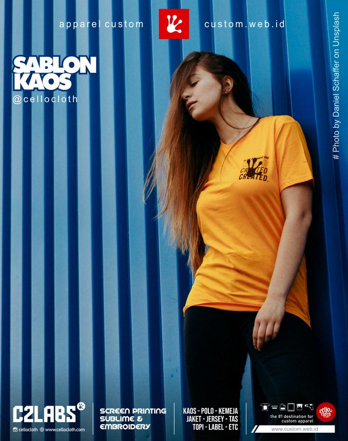 Sabon Kaos Standart 100 Oeko Textile Sertifikat Custom by Request - C2 Labs Cellos Clothes