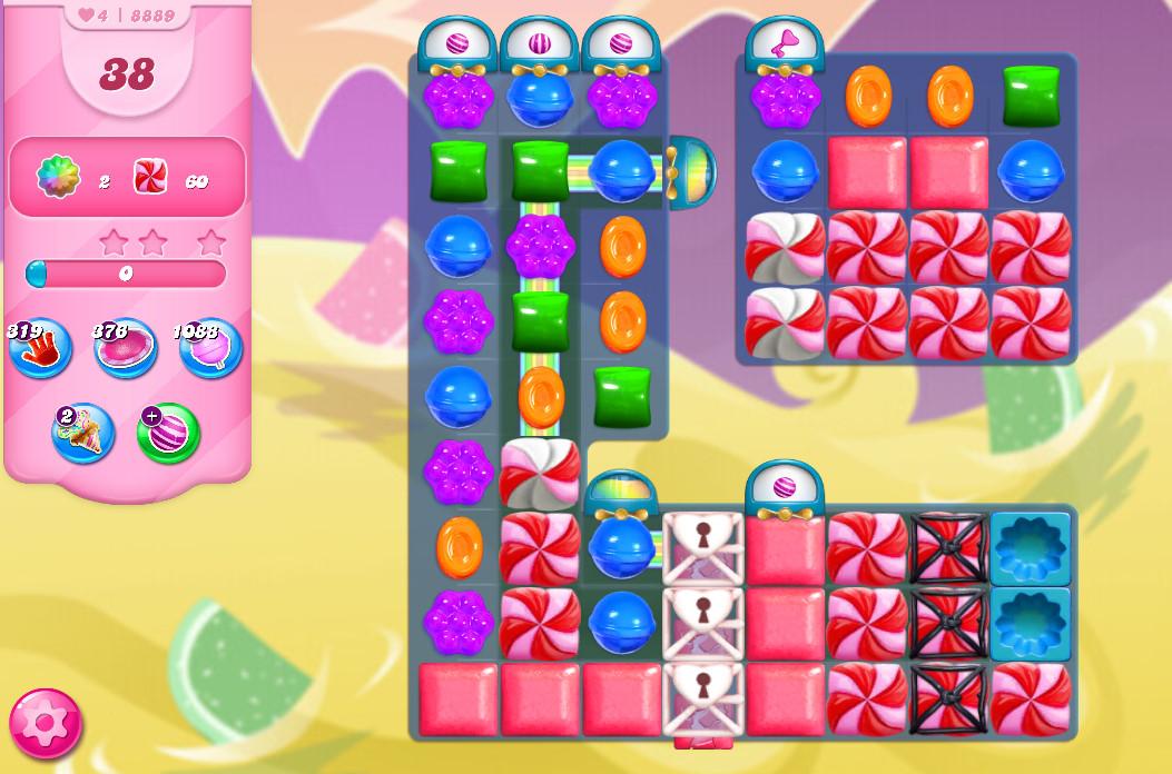 Candy Crush Saga level 8889