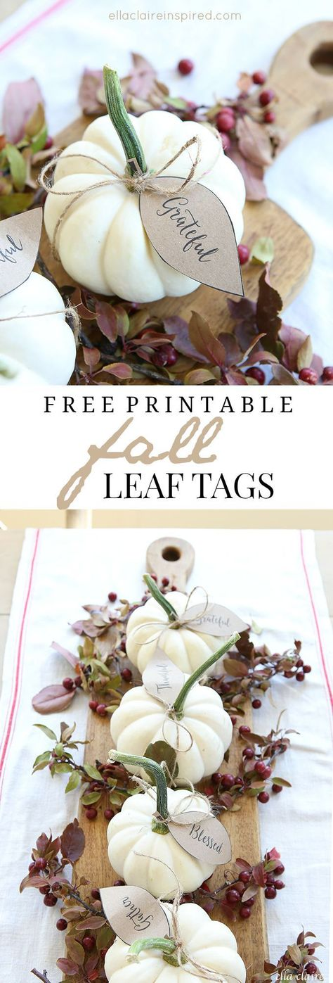 Free pumpkin leaves printable